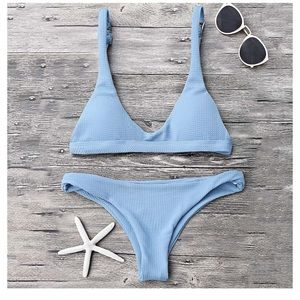 Baby blue swimsuit